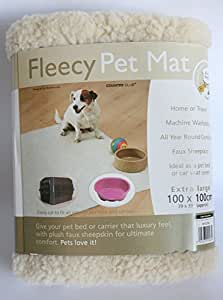 Pet Dog Puppy Cat Soft Fleece Fleecy Extra Large Blanket Mat Bed - Cut To Size