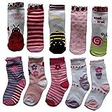 Lieblingsstrumpf24 10er Pack Socken Kinder Jungen Mädchen Baumwolle Öko-Tex Standard 100 (21-23 (86-92), Blume-Schnecke-Mix)