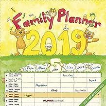 Familienplaner 2019 - Broschürenkalender (30 x 60 geöffnet) - mit 6 Spalten - mit Ferienterminen - Wandplaner