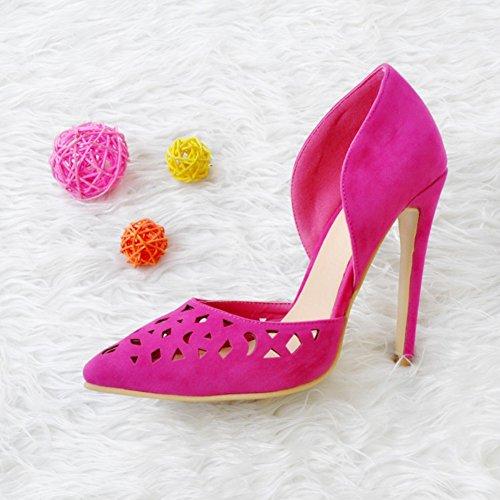 Kolnoo Femmes Handmade 10.5cm D'orsay Style Pointe Toe High Heel Prom Pump Chaussures Pink pink