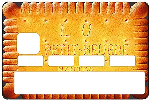 Sticker, autocollant decoratif, pour carte bancaire, PETIT LU - autocollant de haute qualité, création & fabrication Française