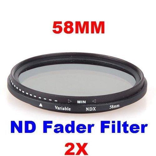 Neewer 10006486 - Filtro de densidad neutra ajustable (ND2 hasta ND400), 58mm, color negro