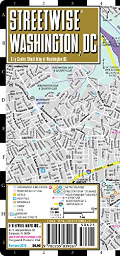 Streetwise Washington Dc: City Center Street Map of Washington, Dc (National & International Titles)