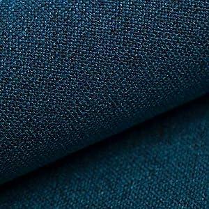 NOVELY® AUEN Premium Möbelstoff | Webstoff| fein gewebter Polsterstoff | Meterware | Bezugsstoff | 23 Farben ... (14 Petrol Blau)