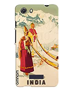 Omnam Indian Art From Himalayas Printed Designer Back Cover Case For Micromax Unite 3
