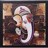 SAF 'Ganesha' Framed Painting (Wood, 12 inch x 12 inch,1089)