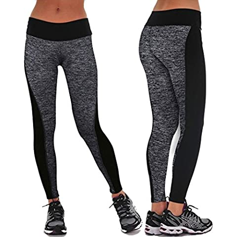 Oyedens Las mujeres se divierte los pantalones de las polainas del Athletic Gym Yoga Fitness Workout