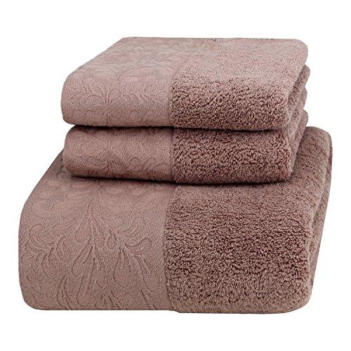 Handtücher Hotel Collection (FESTE Luxus-Handtuch-Set, Haushalt Handtuch (700GSM) 1 Badetücher und 2 Handtücher, dekoriert Handtuch, nicht verblassen.)