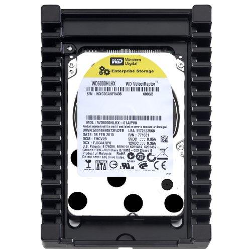 Western Digital WD6000HLHX VelociRaptor 600GB interne Festplatte (8,9 cm (3,5 Zoll), 10000rpm, 3,6ms, 32MB Cache) -