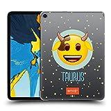 Head Case Designs Offizielle Emoji Stier Sternzeichen Ruckseite Hülle für iPad Pro 11 (2018)
