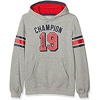 Champion Bambino,  Cappuccio Auth. Fall Fleece, grigio/rosso,   XL,   304303_F16