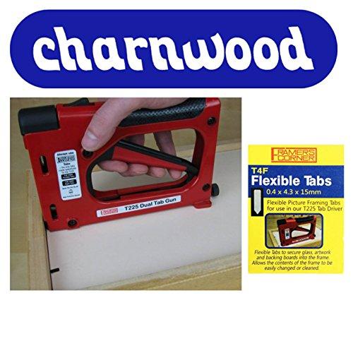 Charnwood T225Tacker für flache Metallklammern + 2500T4F flexible Klammern