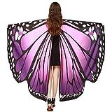 Culater Alas de Mariposa Volando Hada Accesorio Traje Duendecillo Señoras (Morado-B)