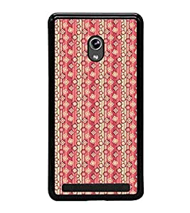 Fuson Premium 2D Back Case Cover Stylish pink pattern With Yellow Background Degined For Asus Zenfone 6::Asus Zenfone 6 A600CG