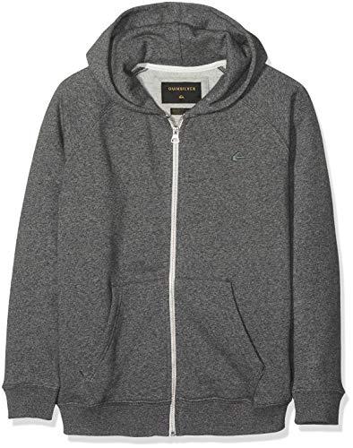 Quiksilver Jungen Everyday Zip Kapuzenpullover, Grau (Dark Grey Heather KRPH), 10 Jahre (Herstellergröße: S/10) -