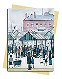 L.S. Lowry: Market Scene Greeting Card