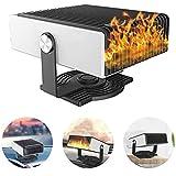 Roebii, riscaldatore portatile per auto con ventola di raffreddamento, 2 in 1, funzione di riscaldamento/raffreddamento, riscaldatore per veicoli, sbrinatore per parabrezza, per auto, casa, ufficio