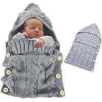 Vandot Unisex Neugeborene Baby Kleinkinder Gestrickte Wrap Swaddle Decke Schlafsack für 0-12 Monate Jungen Mädchen Wickeln Stroller Babydecke Strickdecke Wickeldecke Babyschlafsack Fotografie Kostüm