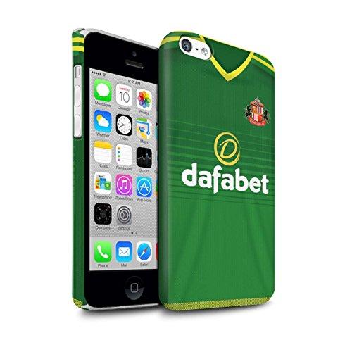Offiziell Sunderland AFC Hülle / Matte Snap-On Case für Apple iPhone 5C / Pack 24pcs Muster / SAFC Trikot Away 15/16 Kollektion Fußballer