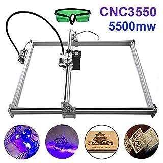 TopDirect 5500mW Laser Graviermaschine 3550 CNC Lasergravierer Engraving Carving Maschine Gravur Schnitzmaschine DIY Laserdrucker mit Schutzbrille, Gravurfläche 350x500mm