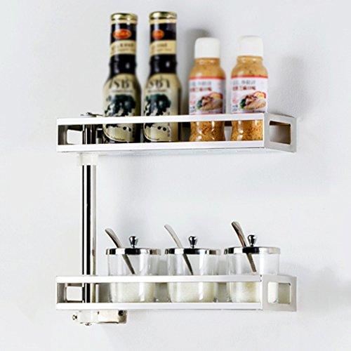 HWF Etagères de cuisine Étagère de cuisine Revêtement de mur Ensemble d'épices Produits de cuisine Rack de rangement Calques multiples Acier inoxydable ( Couleur : 30cm )