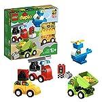 LEGO DUPLO My First I Miei Primi Veicoli, Mattoncini da Costruzione con Macchine Giocattolo, Camion ed Elicottero per… LEGO