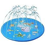 KLAS REMO 67inch Wasserspielzeug Sprinkler Spielmatte Summer Splash Pad Play Matte mit 10 Anti-Rutsch Streifen für Kinder, Babys, Haustiere, Familie im Outdoor Garten