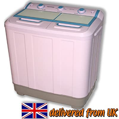 Twin Tub Washing Machine Portable Caravans Mobile Homes Pump Mini Spinner Dryer from AGP1447