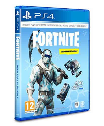 Fortnite: Deep Freeze Bundle - [PlayStation 4] -(Code in the Box) Galaxy Skin