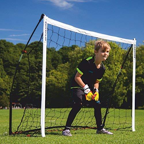 QUICKPLAY Kickster Academy Fußballtor 4 x 1.5M - Ultra TragbarFußballtor beinhaltet Fußballnetz und Tragetasche [Einzelziel]