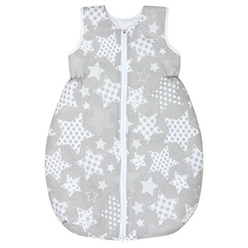 Dkaren Schlafsack für Kinder für jeden Tag aus 100% Baumwolle in jeder Größe verfügbar (74-134cm) (122cm, Große Sterne) (Groß Heide)