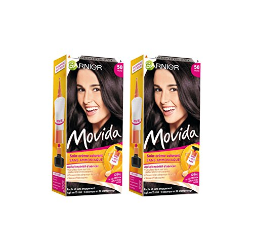Garnier - Movida - Coloration temporaire sans ammoniaque Violine - 50 Prune Lot de 2