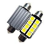 LIGHTEU®, 2xLED-Soffitte für 42mm Lampensockel mit 8 SMD LEDs Leuchtfarbe warm weiß [Energieklasse A++]