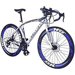 Helliot Bikes Helliot Sport 02 Bicicleta de Carretera, Unisex Adulto, Blanca y Azul, M-L