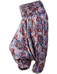 SONDERANGEBOT / AUSVERKAUF Panasiam Aladin Pants, im Oriental Ornament Design, passt S bis M, passt bis 175cmKögrpergröße, aus feiner Viskose