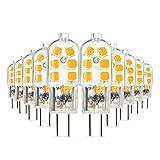 LED Leuchtmittel,Scoek 10 Pack G4 3W LED Lampe,AC / DC 12V,ersetzt 20W Halogenlampen,led Stiftsockellampe kleine Glühlampe sockel Beleuchtung Mais Leuchtmittel,Warmweiß 3000K
