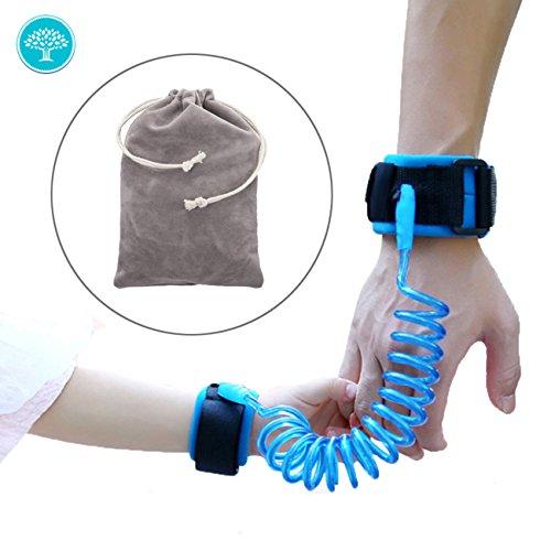 """Preisvergleich Produktbild Kind Anti verloren Handgelenk Link -Xikeo blau mit doppelt Klettband für Baby/Kinder 1,5M(59"""") (blau)"""