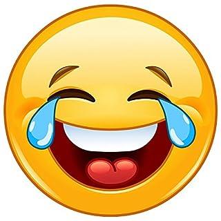 easydruck24de XL Smiley-Aufkleber Tears I kfz_216 I rund Ø 20 cm I Emoticon Sticker lachend für Auto Wohnwagen Wohnmobil und mehr I wetterfest