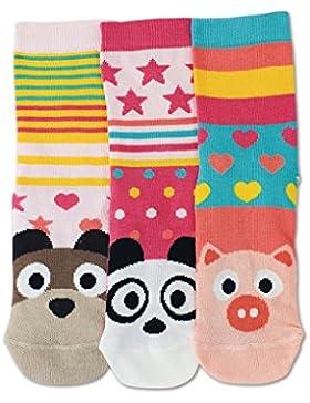 United Oddsocks - Faces - Mädchen - Gr. 27-30 - 3 Socken = 3 Kombis -