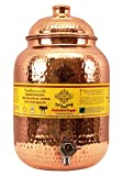 Indian Art Villa Hammered Copper Water Dispenser Container Pot Matka, Storage Water, Kitchenware, 8 Ltr