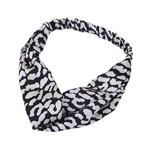 Younthone❤❤Kopfband Haarspange Damen-Weinlese-Blume druckte elastische Kopf-Verpackungs-verdrehte Fascinators Stirnband für Frauen Hochzeit Tea Party Stirnband Kostüm Zubehör