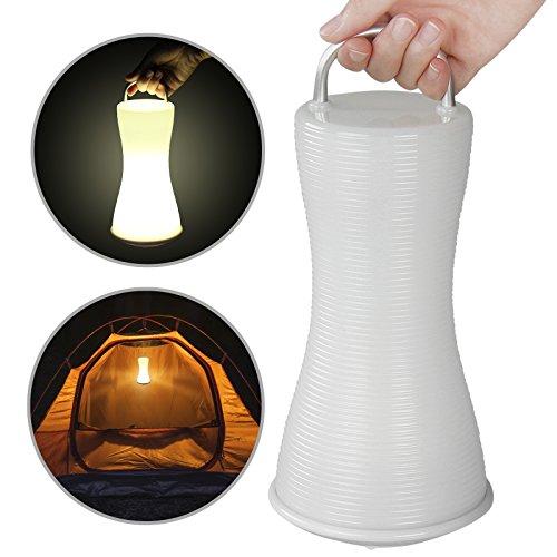 Jago LED Camping-Lampe | spritzwassergeschützt, mit 6 LEDs, mit praktischen Tragegriff | Campinglampe Campingleuchte Outdoorlampe Gartenleuchte