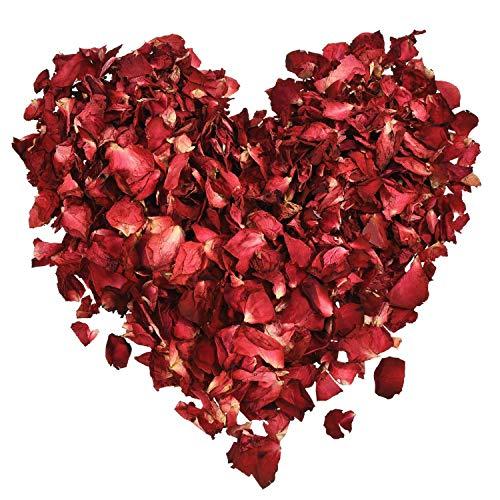 Anjing 100 g getrocknete Rosenblätter rot echte Blume Rose Blütenblätter für Bad Fuß Bad Hochzeit Konfetti Zubehör -