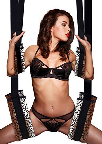 Extasialand Liebesschaukel weich gepolsterte und flexibel verstellbare Schaukel mit Karabinern und Befestigungshaken, das Spielzeug für Paare sling tool sex swing