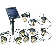 Esotec Solar-Lichterkette Laterne Außen solarbetrieben 10 LED Warm-blanco Beleuchtete Länge: 4m 102