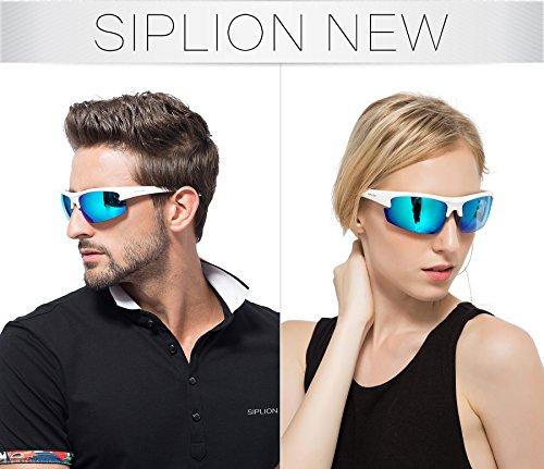SIPLION Herren Sonnenbrille UV400 Schutz Polarisiert Superleichtes Rahmen 502 BLUE