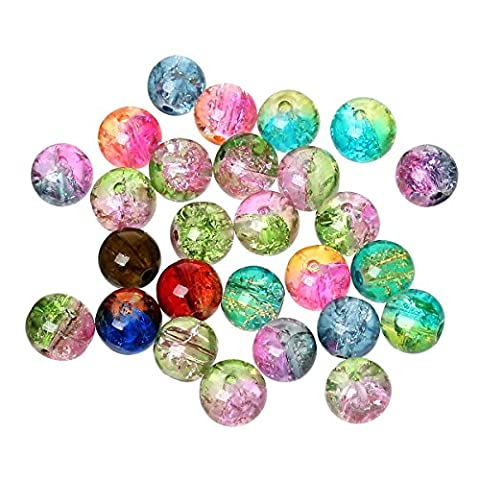 The Bead and Button Box - 100 Beautiful Crackle Beads.