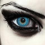 Designlenses Lenti a Contatto Colorate Blu Mannaro per Halloween, morbide, Non corrette Modello: Blue Werewolf