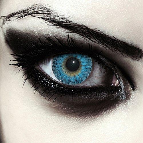 """Lentillas de color azul para Halloween hombre-lobo lentillas sin dioprtías / corregir + gratis caso de lente """"Blue Werewolf"""""""