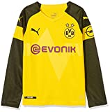 Puma Kinder BVB LS Home Shirt Replica Jr Evonik with OPEL Logo Trikot, Cyber Yellow, 140